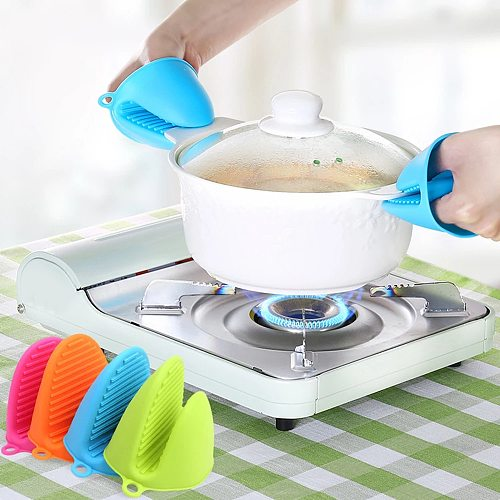 1pc Thicken Silicone Baking Oven Mitts Microwave Oven Glove Insulation Non Stick Anti-slip Grips Bowl Pot Clips Kitchen Gadgets