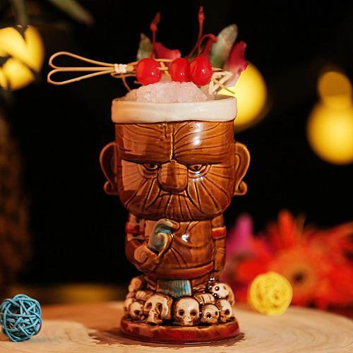 Maori Chiefs Tiki Mug Barware Cocktail Mugs Beer Wine Cup Art Ceramic Cup Wine Accessories Ceramic Crafts Bar Tools