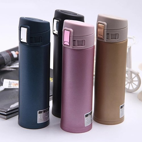Stainless Steel Insulated Cup Coffee Tea Thermos Mug Thermal Water Bottle Thermocup Travel Drink Bottle Tumbler 500Ml