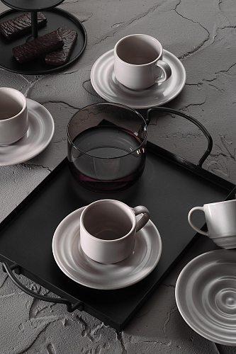 Turkish Coffee Cups 6 Pcs 4 Colors Options 90cc Saucers Serving Set Porcelain Coffee Mugs Best For Home Decor Demistasse Set