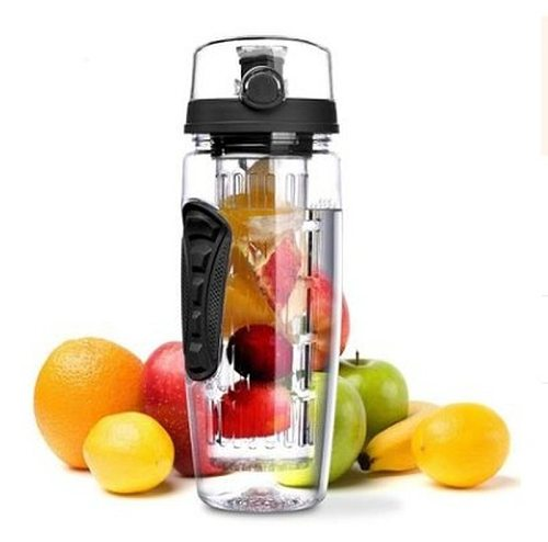 1000ml Plastic Fruit Infuser Juice Shaker Sports Lemon Water Bottle Tour Hiking Portable Drinkware Bottles