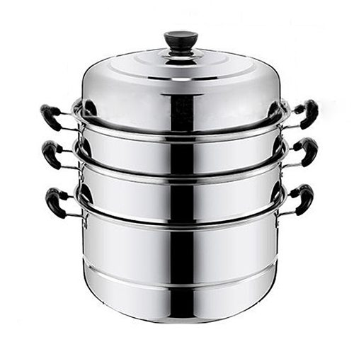 4 layer Stainless Steel Thicken Steamer Pot Steam Pot Boiler Induction Cooker Steaming Pot Soup Pot for Kitchen cookware Tools