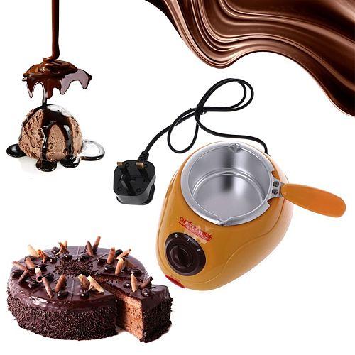 Electric Heating Chocolate Candy Melting Pot Fondue Fountain Machine Kitchen Baking Tool