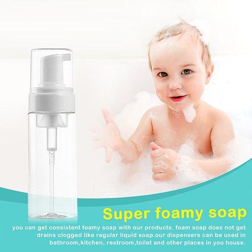 30/60/100/150ML Travel Foaming Soap Dispensers Pump-Bottles Foamer Squeezed Foaming Pump Makeup Face Lotion Liquid Container