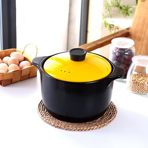 Colorful Ceramic Casserole with High Temperature Resistance Ceramic Pot with Cover
