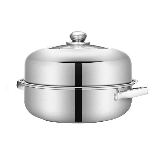 2/3 Tier Thick Steamer Steam Pot Boiler Stainless Steel Multipurpose Cookware Cooker Pots for Induction