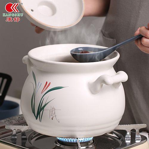 Casserole Large Capacity Stew Pot Open Fire Direct Burning Soup Pot Household Ceramic Pot Porridge Soup Pot Small Soup Pot Olla