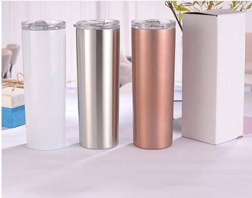 20oz Skinny Tumbler With Lid Straw Beer Swig Thermos Cup Wine Mug Tumblers Mugs Double Wall Vacuum Insulated Cup Water Bottle
