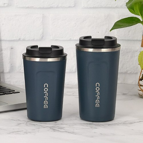 5 Color  Creative 304 Stainless Steel Coffee Cup Leisure Car Vacuum Cup Fashion Business Office Gift Cup Custom LOGO