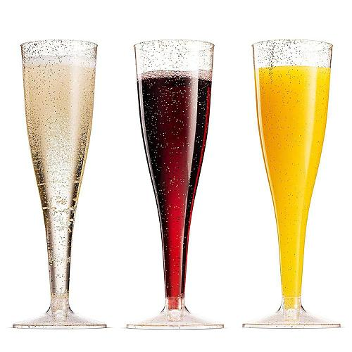 80% Hot Sale 5Pcs Plastic Disposable Wine Goblet Outdoor Party Beer Juice Drink Champagne Cup