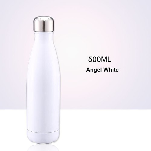500ml Double Wall Vacuum Stainless Steel Insulated Water Bottles with custom logo