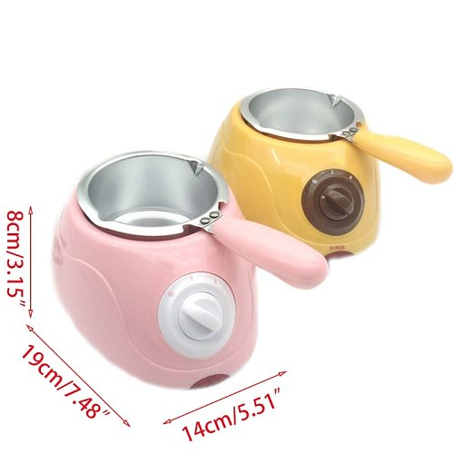 Electric Chocolate Melter Durable Stainless Steel Plastic Hot Chocolate Melting Pot Electric Fondue Melter Machine Tool U1JE