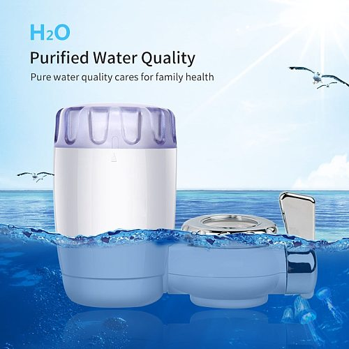 HiPiCok Tap Water Purifier Water Filter Kitchen Faucet Washable Ceramic Percolator Water Cleaner Remove Impurities Bacteria Rust