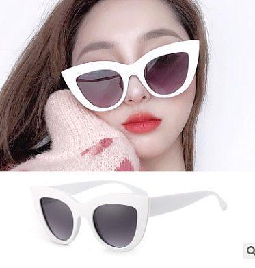 YLWHJJ exaggeration atmosphere Cat Eye Sunglasses Women Black White red Sunglasses big frame glasses for women