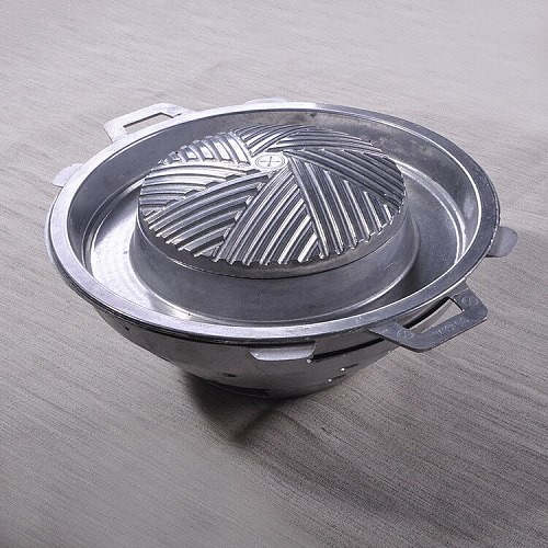 Thailand Style 32cm High Quality Iron Hot Pot Thailand Characteristic Fondue With Cover Free Shipping