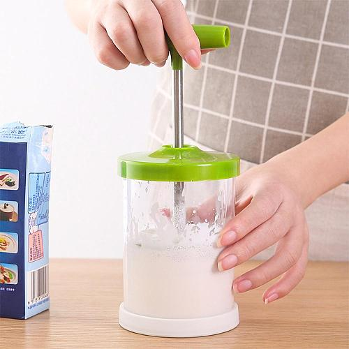 ABS Hand Pump Cream Whipper Shop Foam Maker Kitchen Pitchers DIY Multipurpose Professional For Coffee Tools Manual Milk Frother