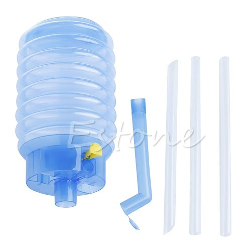 1pc Hand Plastic Press Pump Dispenser Bottled Drinking Water Home Facty Office