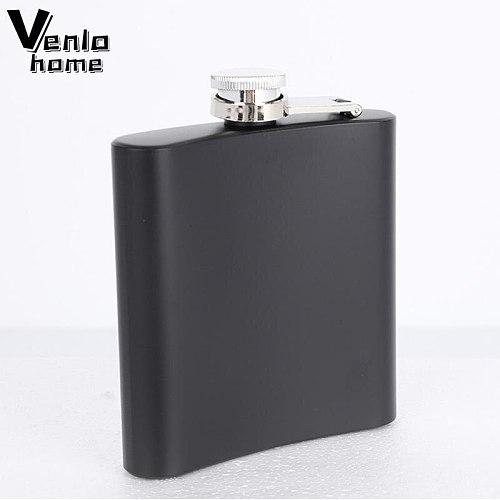 Venlohome 6oz Hip Flask Stainless Steel Pocket Alcohol Whiskey Liquor Screw Cap Travel Liquor Portable Liquor Drinkware Wine Cup