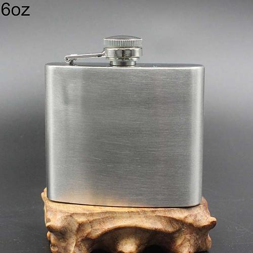 Portable Plastic 4 5 6 7 8 10 oz Stainless Steel Vodkas Whiskey Alcohol Hip Flask Cap Funnel Flask for Alcohol Flagon Funnel