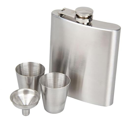 7oz Portable  Stainless Steel Hip Flask Liquor Whisky Alcohol Cap Funnel Drinkware For Drinker Hip FlasK Classic Drinkware