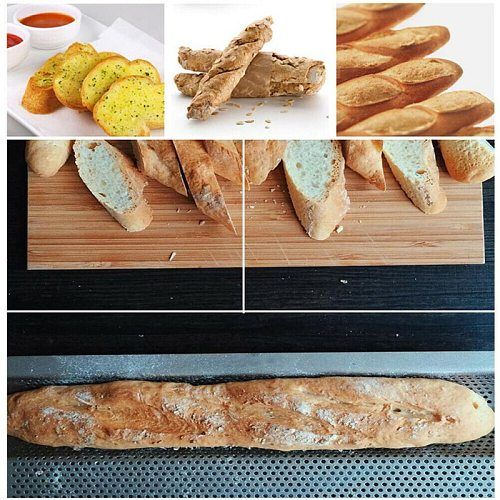 French Bread Baking Mold Bread Wave Baking Tray Practical Cake Baguette Mold Pans 1/3Groove Waves Bread Baking Tools