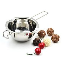 Stainless Steel Kitchen Chocolate Butter Cheese Fondue Pots Melting Water Heating Pot Bowl Easy to Use, Kitchen Tool