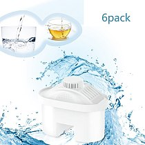 6Pcs Filters Replacement for Water Pitcher,Household Purify Net Kettle Direct Drinking Activated Carbon Water Filters