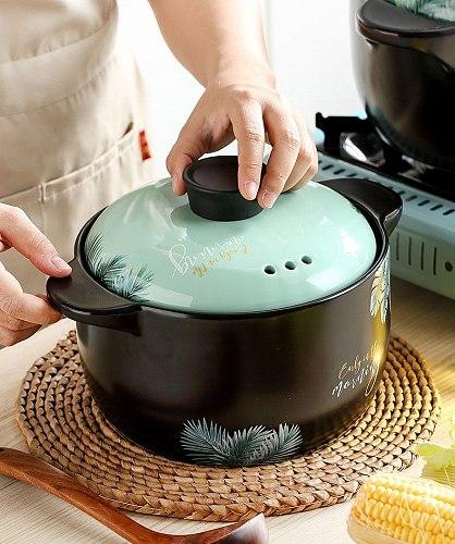Household Gas Ceramic Soup Pot Casserole Soup Pot Fire Heat Resistant Hotpot Kitchen Pots Cooking Pot 2.5/3.5/4.5/5/6L