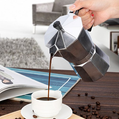 1 Cup Aluminum Coffee Pot 1Cup Coffee Maker Espresso Percolator Stovetop Mocha Pot Electric Fashion Stove