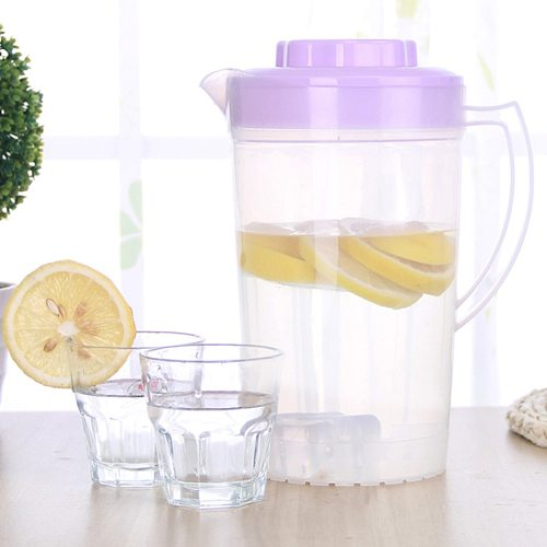 2L Large Capacity Household Teapot Kettle Beverage Storage Container Heat Resistant Cold Water Jug Plastic Juice Pitcher
