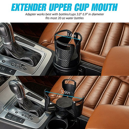 Car Bottle Holder 2 in 1 Auto Car Seat Cup Holder Water Bottle Drink Coffee Adjustable Mount Stand Car interior Car Accessory