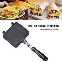 Sandwich Mold Waffle Easy Clean Kitchen Tool Bread Barbecue Plate Toast Frying Aluminum Alloy Home Double Side Non-stick Pan
