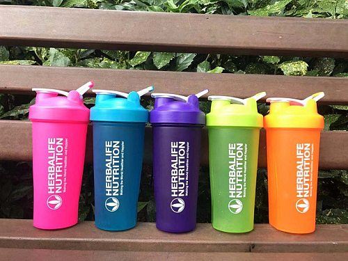 Protein Shaker Bottle, Gym Sports Water Bottle, Smoothie Mixer Cups, BPA Free, Flip Lid with Powerful Blending Ball Included