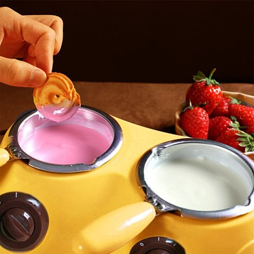 Electric Chocolate Melter Durable Aluminum Liner Plastic Hot Chocolate Melting Pot Electric Fondue Melter Machine Tool