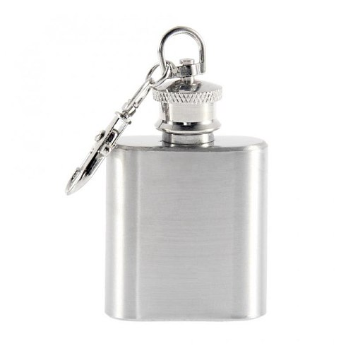 1 Oz Stainless Steel Hip Flask With Funnel Pocket Hip Flask Alcohol Whiskey Hip Flask Screw Cap Wine Bottle With Key Ring