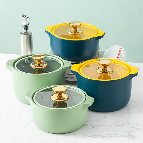 Creative Crock Pot Casserole Ceramic Saucepan Soup Pot High Temperature Resistant Cooking Pan Pot for Gas Stove Kitchenware
