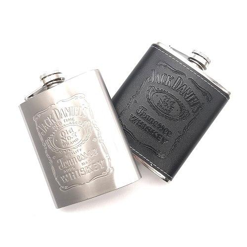 7oz Stainless Steel Hip Flask Liquor Whisky Alcohol Cap Funnel Drinkware Bottle Best Gift for Man Alcohol Bottle