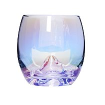 Rainbow Glass Cup, Water Cup, Egg Cup, Mountain Glass Cup,Beer Glass, Wine Glass (370ml ) Set of 4