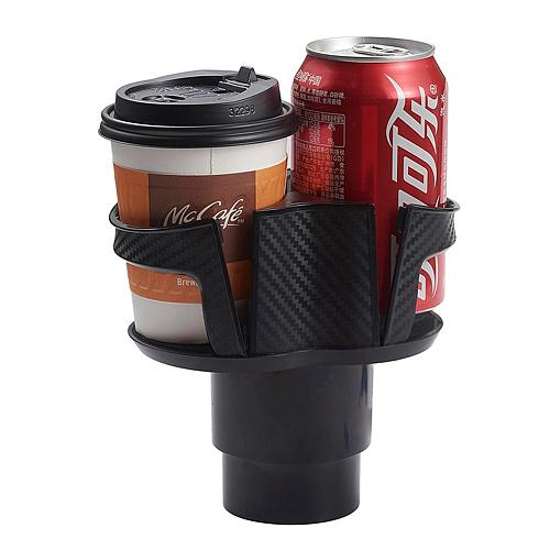 Car Cup Holder Black Drink Holders 2 in 1 Design Cup Holders Expander Automobile Interior Accessories Detachable Water Bottle Ho