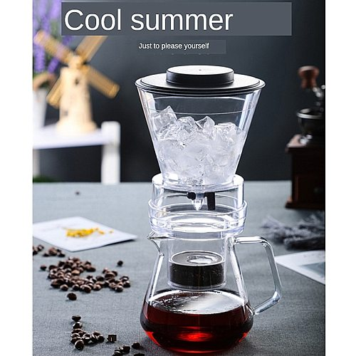 500ml Coffee Maker with Reusable Stainless Steel Filter Cold Brew Thick Glass Percolators cafetera expreso Coffee Iced Drip Pot