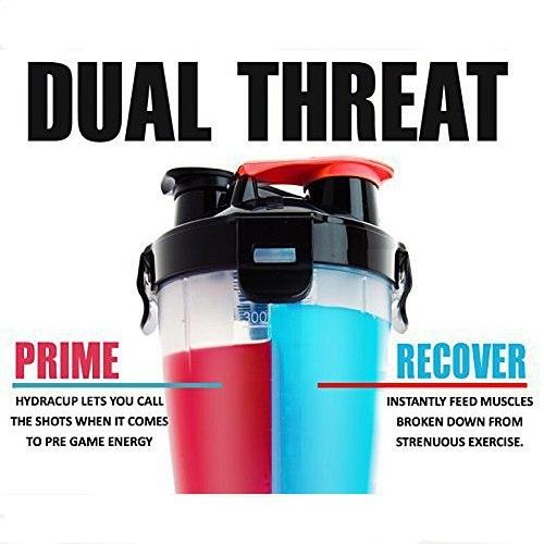 Dual  Protein Powder Shaker Bottle Sports Bottle Fitness Mixer Bottle Water Bottle BPA-free Thicken Durable Powerful Leakproof