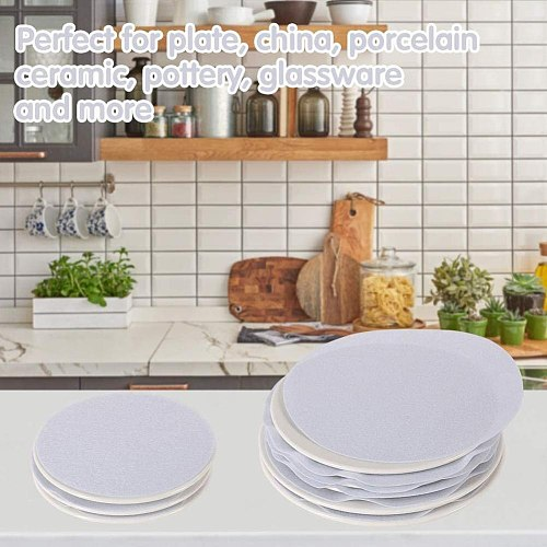 48Pcs/Set Dish Protection Pad Felt Non-woven Dishes Protectors Separator Pot Pan Soft Set Plate Cookware Bakeware Stacking T3Y5