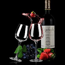 High Quality 3 Styles 400-600ML Multi-Purpose Goblet Lead-Free Crystal Glass Red Wine Cup Bar Winery Family Drinkware