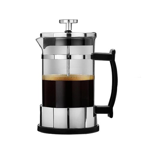 1PCS Double Layer Stainless Steel 304 Pressure Pot Coffee Maker Household Portable Teapot Tea Brewer Kitchen Supplies
