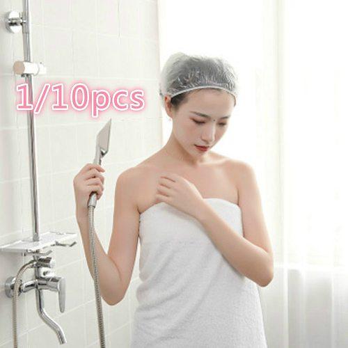 1/10PCS Disposable Shower Caps Pleated Anti Dust Hat Women Men Bath Caps for Spa Anti - smoking cap to eat hot pot special@4
