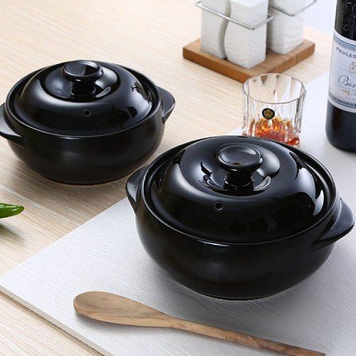 christmas Korean casserole wholesale heat-resistant binaural ceramic rice noodle special large casserole