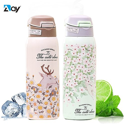 Thermal Mug Tea Thermo Bottle Beer with Straw Cooler Coffee Cups Stainless Steel Insulated Bottle Flask Vacuum Travel Tumblers