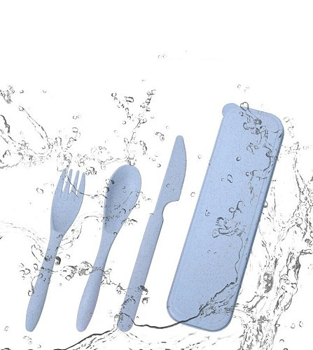 Portable Lunch Tableware Cutlery Set Stainless Steel Spoon Fork Travel Outdoor Knife Tableware Dining Canteen Dinnerware Sets