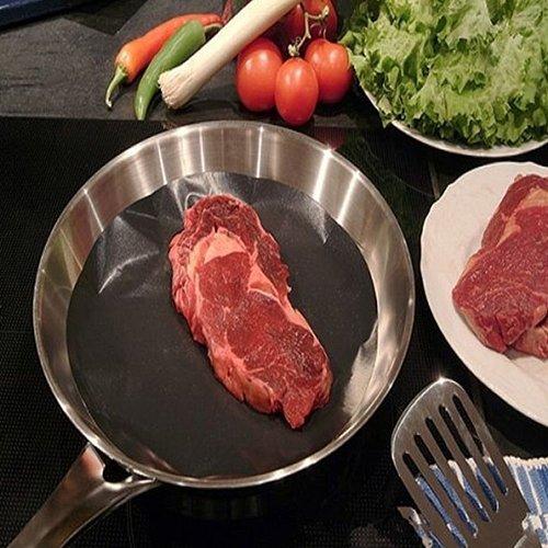 2pcs/set Round Non-stick Heat Resistant Pan Mat Reusable Round Pan Pad Mat for BBQ Grill Mat Dia 24cm Kitchen Cooking Tool Drop