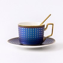 Porcelain coffee cup and saucer bone china coffee set  C  mark design Top Grade outline in gold tea cup and saucer set saucer se